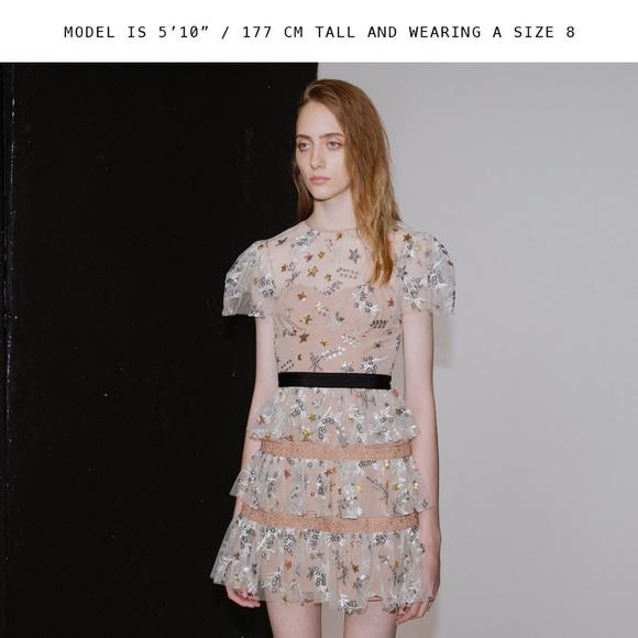 15e0ea11ac757 Self-Portrait Dresses | Sale Selfportrait Star Mesh Tiered Dress ...